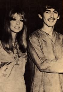 Pattie and George after India