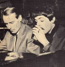 Paul and A & R man George Martin.